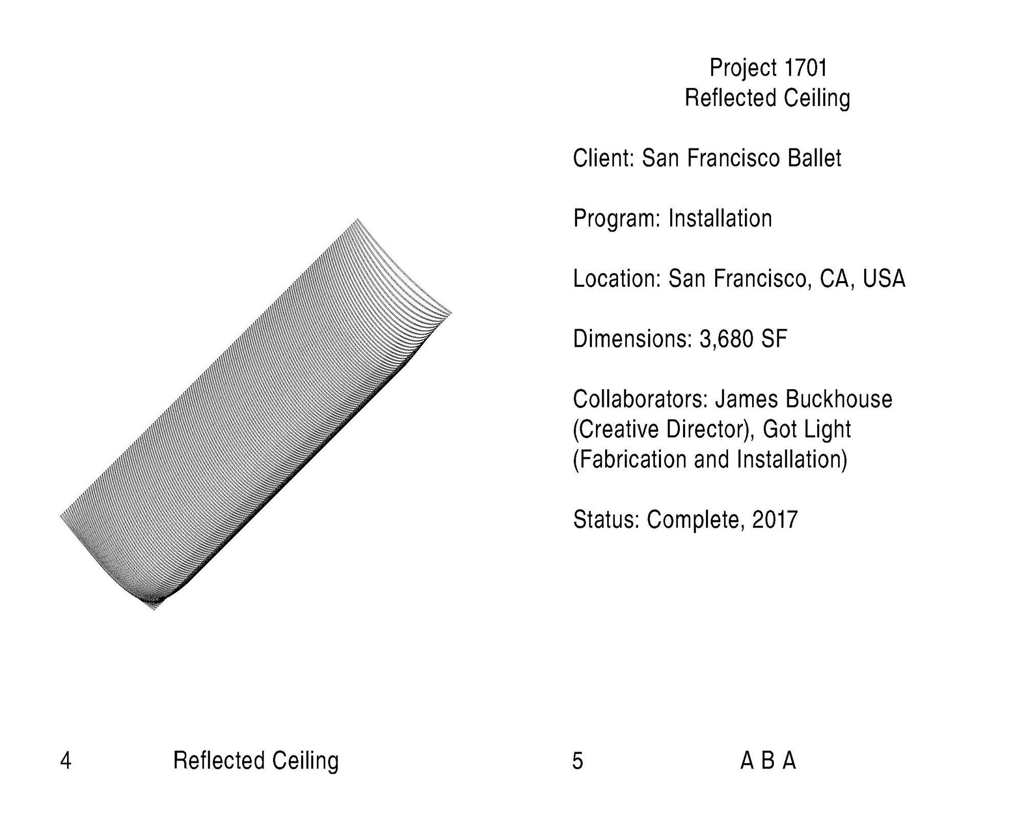 Abruzzo Bodziak Architects → Project: Reflected Ceiling → Booklet